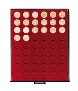 LINDNER 2754 R MÜNZBOXEN Münzbox Münzenboxen Rauchglas 54 x 25, 75 mm 2 EURO Münzen