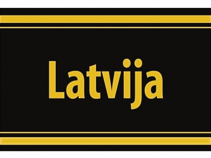 """1 x SAFE 1130 SIGNETTE Aufkleber selbstklebend Lettland """" Latvija """""""