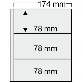 10 SAFE 7853 Compact Ergänzungsblätter Hüllen 3 Taschen 174x78mm glasklar Für 4er Blöcke Briefmarken