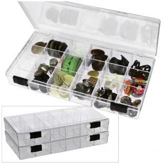SAFE 5252 Transparente Kleinboxen Setzkasten Kunststoff Universal mit Deckel & 24 Runden Dosen 35 mm Höhe 17 mm - Vorschau 2