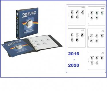 LINDNER 1520 Münzalbum 20 Euro Gedenkmünzen Deutschland Vordruckalbum 2016 - 2020
