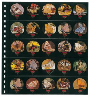 1 x LINDNER 054 Omnia Einsteckblätter schwarz 25 Taschen 46 x 55 mm Für 50 Kaffeerahmdeckeli - Vorschau 3