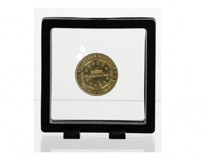 SAFE 4527 SCHWEBERAHMEN NEO FOTORAHMEN BILDERRAHMEN 3D Schwarz 90 x 90 mm / 73 x 73 mm Für Münzen
