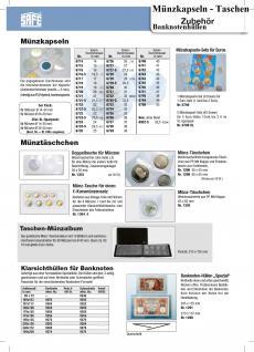 1 x SAFE 6790 Münzenkapseldisplay 8 Münzkapseln 16, 5 - 19 - 20 - 21, 5 - 22, 5 - 23, 5 - 24, 5 - 26 mm für Euro Kursmünzen Satz KMS 1, 2, 5, 10, 20, 50 Cent - 1, 22 Euro - Vorschau 2