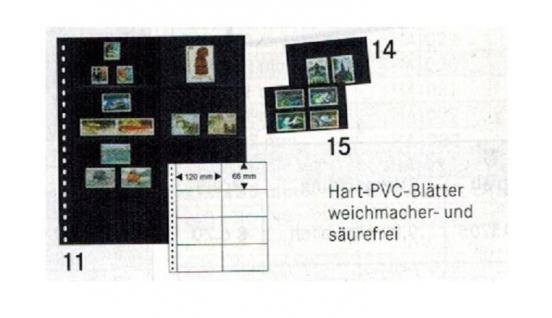 1 LINDNER 040 Omnia Einsteckblätter schwarz 8 Taschen 120x66 mm Für 16 Klemmkarten 031 032 041 042 - Vorschau 1