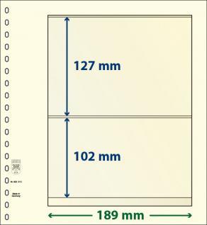 10 x LINDNER 802210P T-Blanko-Blätter Blankoblatt 18-Ring Lochung - 2 Taschen 127 / 102 x 189 mm