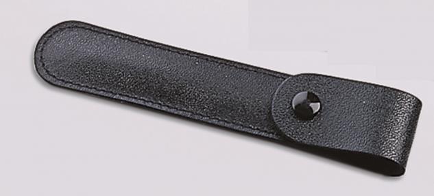 SAFE 1853 Lederetuis mit Druckknopfklappe für Pinzetten 120 mm lang Für Briefmarkenpinzetten & Münzpinzetten