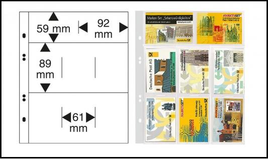 1 LINDNER 1363 Glasklare Multi Collect Einsteckblätter 8 Felder MIxed Telefonkarten & Markenheftchen