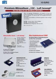 """SAFE 7416 PREMIUM Münzalbum Deutsche 10 Euro Münzen Gedenkmünzen """" Luft bewegt """" + farbige Vordrucklätter + Hüllen 2019 2020 2021 - Vorschau 2"""