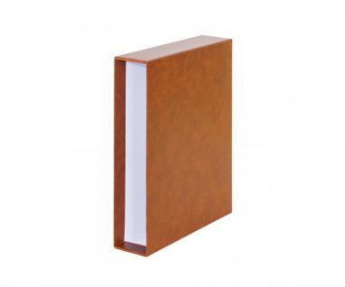LINDNER 116K-H Schutzkassette Kassette Schuber Hellbraun - Braun für Einsteckbuch Einsteckbücher 1162S 1169S
