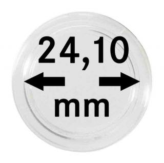 10 x Lindner S22702410P Spezial Münzkapseln Capsules EXTRA HOCH Innen-Ø 24, 10 mm, Innenhöhe 4, 5 mm