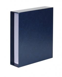 LINDNER 3504-B Blau Schutzkassette Kassette Schuber für PUBLICA L Ringbinder 3503