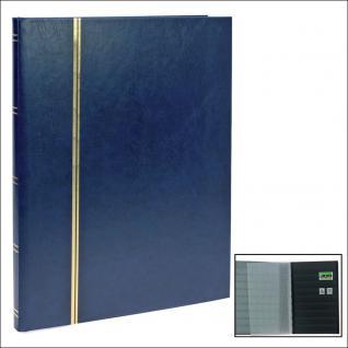 SAFE 158-4 Briefmarken Einsteckbücher Einsteckbuch Einsteckalbum Einsteckalben Album Blau 16 schwarze Seiten