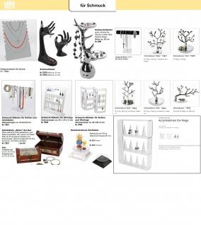 SAFE 73827 Design Schmuckständer Schmuckbaum Silberfarbend XL 21 cm für Schmuck & Ohrringe & Ringe - Vorschau 5