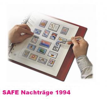 SAFE 1694 dual Nachträge - Nachtrag / Vordrucke Deutschland Jahresschmuckblätter - 1994