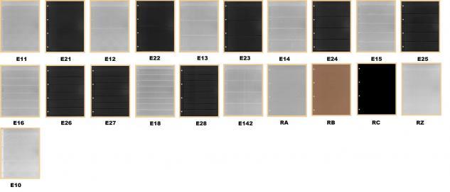 1 x KOBRA E24 Combi Einsteckblätter beidseitig schwarz 4 Taschen 62 x 200 mm Ideal für Briefmarken Blocks Viererblocks Banknoten - Vorschau 2