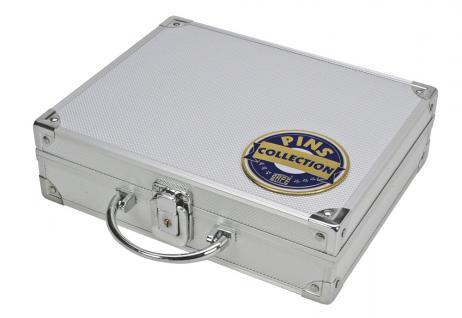 SAFE 240 ALU Sammelkoffer Koffer 6 Tableaus Für bis zu 240 Pin's & Buttons & Anstecknadeln - Vorschau 2
