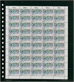 1 x LINDNER 020 Omnia Bogenblatt Schwarz Für 2 Bogen Format max. 262 x 305 mm