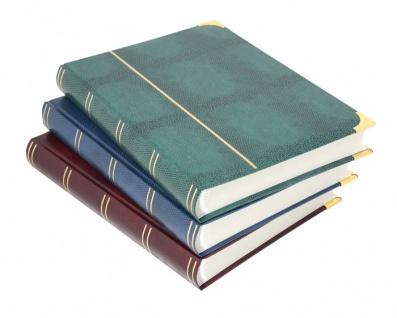LINDNER 1184-64 Weinrot Rot KROKO - Goldecken Einsteckbücher 64 weisse Seiten