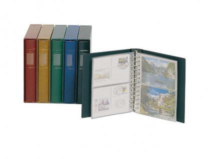LINDNER 1103K-G Grün Postkartenalbum + 20 Klarsichthüllen 811 - 2er Teilung Für Postkarten