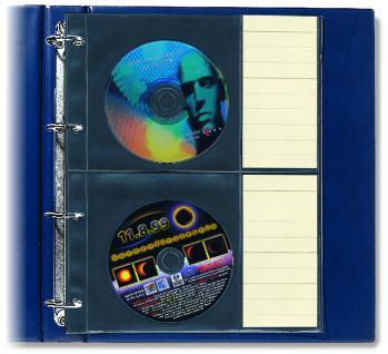 5 x SAFE Compact A4 Ergänzungshüllen Hüllen A4 Für 20 DVD / CD's mit Etiketten