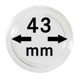 5 LINDNER Münzkapseln / Münzenkapseln Capsules Caps 43 mm 2250043P