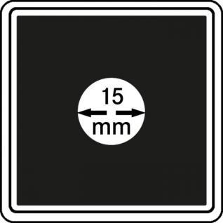 1 x LINDNER 2240015 Münzkapseln / Münzenkapseln CARREE 15 mm - Ideal für 1/20 OZ Meaple Leaf & Panda