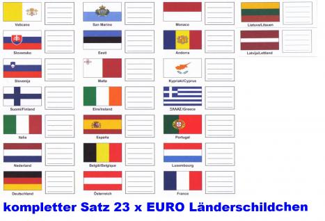 1 x KOBRA FEL-LAND-D Länderschildchen mit farbiger Flagge Deutschland Für die Münzblätter FE24 oder zum gestallten von Vordruckblättern - Vorschau 2