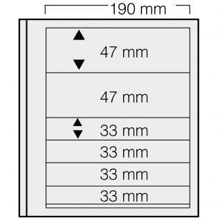 5 x SAFE 662 dual Blankoblätter Einsteckblätter Ergänzungsblätter mit je 2 Taschen 190x47 & 4 Taschen 190x33 mm Für Briefmarken Banknoten Postkarten Briefe