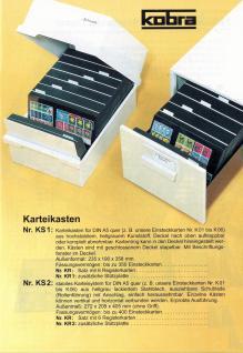 10 x A5 KOBRA K14 Kunstoff Einsteckkarten Steckkarten Schwarz 210 x 147 mm 4 Streifen 202 x 23 mm - Vorschau 4
