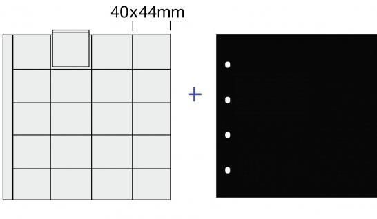 5 x SAFE 820 COIN Combi Münzblätter Ergänzungsblätter 20 x 38mm Ideal für 10 DM - 10 & 20 Euro Gedenkmünzen