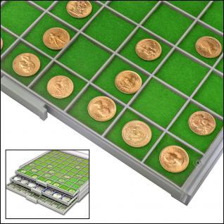SAFE 6137 BEBA Filzeinlagen GRÜN für Schubladen Schuber 6107 Münzbox 6607 Maxi Münzkasten - Vorschau 1