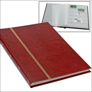 SAFE 131-1 Briefmarken Einsteckbücher Einsteckbuch Einsteckalbum Einsteckalben Album im Buchformat A5 Weinrot - Rot 16 weissen Seiten - Vorschau 1
