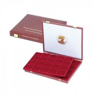 LINDNER 2042 Luxus Kassetten 2 Tableaus 40 x Fächer bis 47 mm Ideal für US Silver Eagle Dollar in Münzkapselnapseln 41