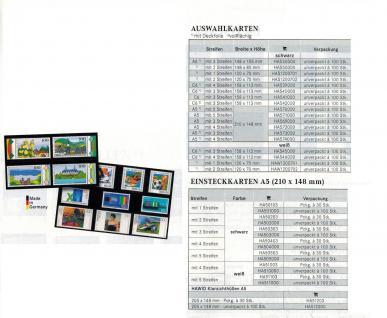 100 x HAWID HA 541000 DIN C6 Auswahlkarten Einsteckkarten 158 x 113 mm 3 Streifen - Vorschau 3