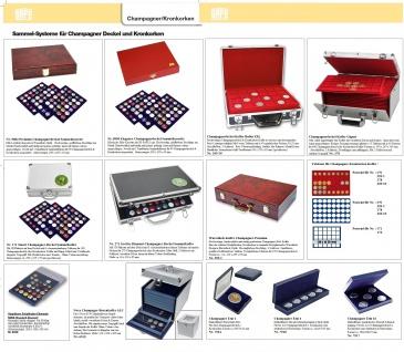 SAFE 5925 Lackholz Vitrinen PIANO Schwarz in Klavierlackoptik Für 60 Kronkorken Champagnerdeckel - Vorschau 2