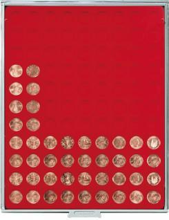 LINDNER 2502E Velourseinlagen Hellrot für Münzbox Münzboxen Kassetten Münzkoffer