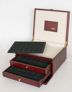 LINDNER KABINETT Münzkassetten + Ablagefach + 2 Schuber + 6 Tableaus 2115CE für 180 Münzen bis 38 mm - Ideal für 10 - 20 Euro Gedenkmünzen in original Münzkapseln 32, 5 PP randlos
