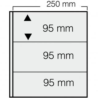 1 x SAFE 7353 Banknoten Hüllen Ergänzungsblätter 3er Teilung 250 x 95 mm