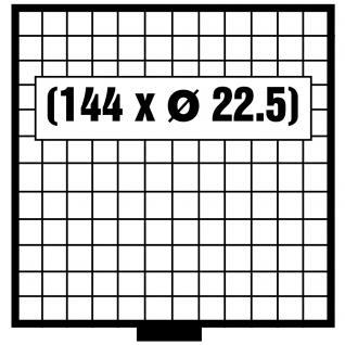SAFE 6112 BEBA SCHUBLADEN Schuber 144 quadratische FÄCHER 22, 5 mm für den Maxi Münzkasten