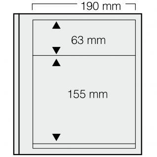 5 x SAFE 619 dual Blankoblätter Einsteckblätter Ergänzungsblätter mit je 1 Tasche 190x63 & 1 Tasche 190x155 mm Für Briefmarken Banknoten Postkarten Briefe