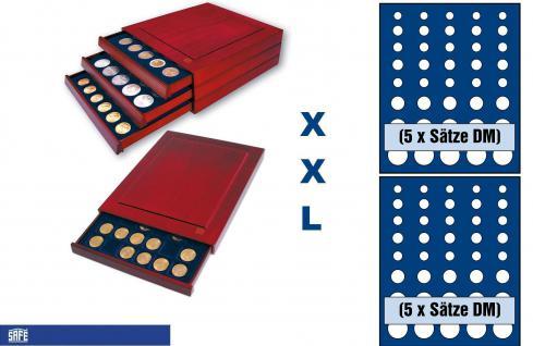 SAFE 6844 XXL Nova Exquisite Holz Münzboxen Schubladenelement mit 2 Tableaus 6344 Für 10 x DM Kursmünzensätze KMS 1, 2, 5, 10, 50 Pfennig 1, 2, 5 DM