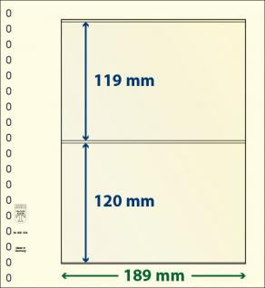 1 x LINDNER DT802204 DT-Blanko-Blätter Blankoblatt 18-Ring Lochung - 2x 2 Taschen 119 x 189 mm