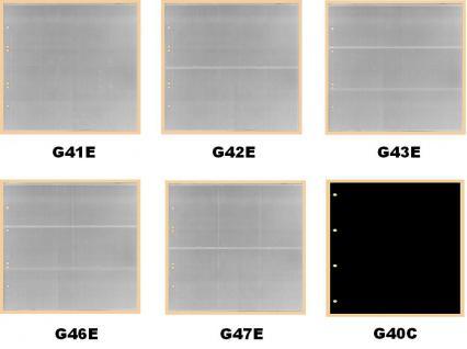 10 x KOBRA G42E Ergänzungsblätter - Ersatzblätter 2 Taschen glasklar 245 x 118 mm Für Banknoten - Liebigbilder - Reklamebilder Sammelbilder - Vorschau 2