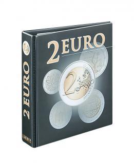 LINDNER 3535R Münzalbum PUBLICA M 2 Euro - Vordruckalbum Gedenkmünezn (leer) zum selbst befüllen