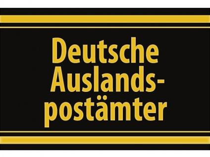 """1 x SAFE 1130 SIGNETTE Aufkleber selbstklebend """" Deutsche Auslandspostämter """""""