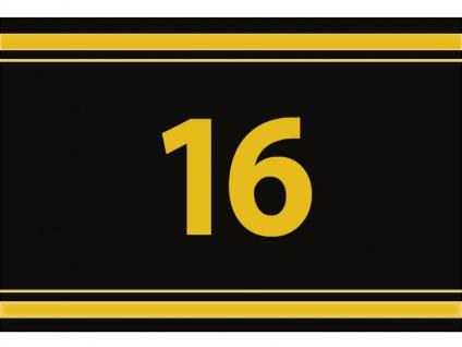 """1 x SAFE 1130 SIGNETTE Aufkleber """" 16 """" Zahlen Ziffern Bandzahlen"""