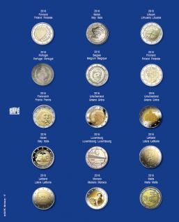 1 x SAFE 7822-17 TOPset Münzblätter Ergänzungsblätter Münzhüllen Münzblatt mit farbigem Vordruckblatt für 2 Euromünzen Gedenkmünzen - 2016