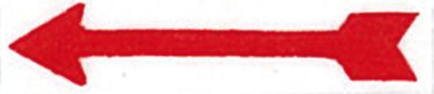 100 x LINDNER 802020 Hinweispfeile Markierungspfeile Rot Selbstklebend