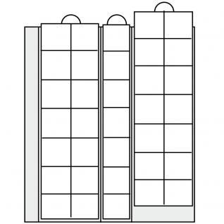 5 x SAFE 7393-5 Premium Ergänzungsblätter Münzhüllen Münzblätter 35 Fächer x 28 mm - Ideal für 2 Euro Münzen